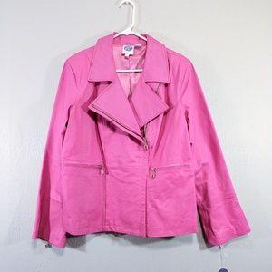 DG2 Diane Gilman Moto Jacket Pig Suede Large